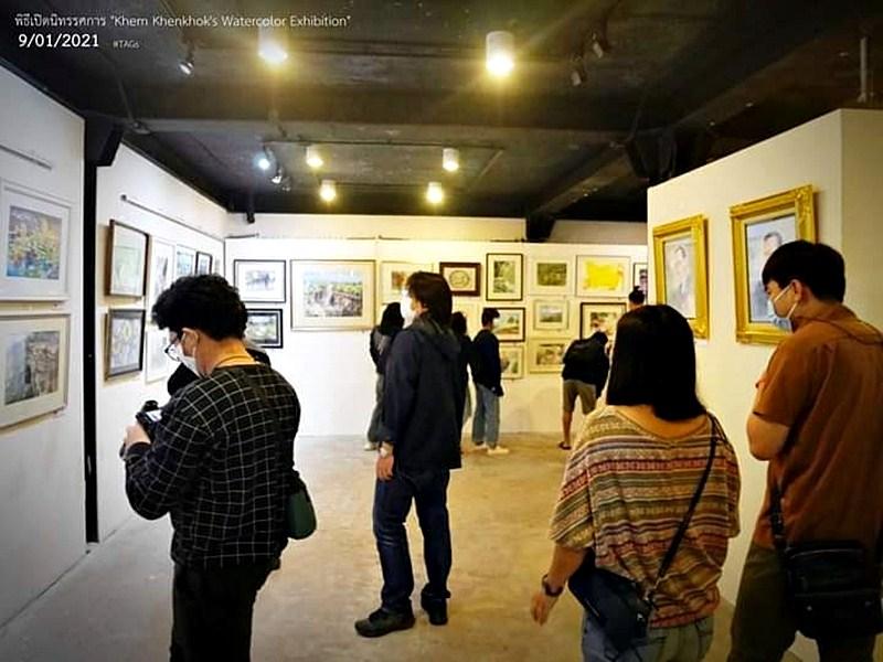 """Khem Khenkhok's watercolor Exhibition"" ຂໍເຊິນຊົມງານວາງສະແດງພາບແຕ້ມສີນໍ້າຂອງ ທ່ານເຂມ ເຄນໂຄກ ອາຈານປະຈຳສາຂາວິຊາສິນລະປະສຶກສາ"